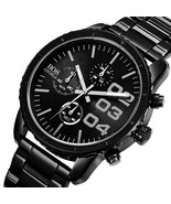 ANGELA BOS 8013G Men Watch Luxury Timer Stainless Steel Strap Male Quart... - $49.40