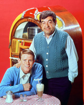 Happy Days Tom Bosley Ron Howard Classic in Front of Juke Box 16x20 Canvas - $69.99