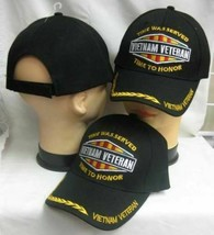 """Vietnam Veteran Hat """"Time was Served Time to Honor"""" Black 3d Cap - $19.79"""
