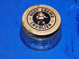 Vintage Boot Creme Cavalier Jar w/ Lid Baltimore 18666 - $7.24