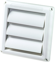 """Supurr-Vent Louvered Outdoor Dryer Vent Cover White 4"""" Hood NEW - $5.40"""