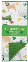 "Microfiber Quick Drying Mat (15""x20"") ST. PATRICK'S DAY, SHAMROCK DOGS,g... - $15.83"
