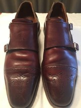 Allen Edmonds St. John Double Monk Chili 11.5 D Made In USA St Johns Leather - $93.10