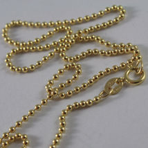 18K YELLOW GOLD CHAIN WITH BALLS BALL, SPHERES, NECKLACE, MADE IN ITALY image 2