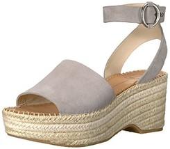 Dolce Vita Women's Lesly Espadrille Wedge Sandal, Grey Suede, 10 M US - $37.18