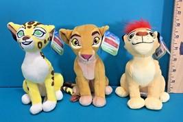 Disney The Lion King Guard Kiara Kion Fuli Bean Bag Plush Lot Just Play ... - $28.95