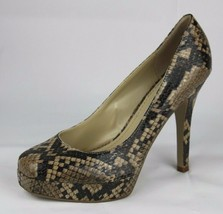 Nine West Hope Galleggiante Donna Scarpe Tacchi Animalier Marrone, Taglia 6.5M - $19.39