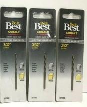 """(New) Do It Best Cobalt 3/32"""" Drill Bit  307882 Lot of 3 - $14.84"""