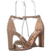 Sam Edelman Yoshi Ankle Strap Sandals 572, Oatmeal, 9.5 US / 39.5 EU - $48.95