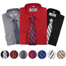 Boltini Italy Boys Kids Toddlers Long Sleeve Dress Shirt Set with Matching Tie
