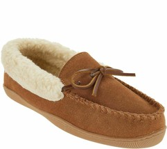 Clarks Suede Women's Slipper with Faux Shearling/Color COGNAC Size 6 Medium *NEW - $33.65
