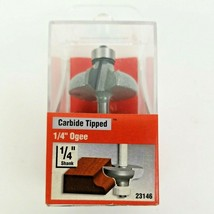 """Vermont American 23146 Carbide Tipped 1/4"""" Ogee Router Bit Double Flute   - $15.50"""
