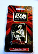 "STAR WARS PHANTOM MENACE BATTLE DROID ENAMEL PIN 2"" TALL MINT IN PACKAGE - $9.95"