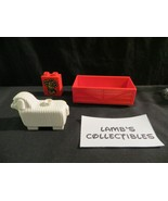 Lego Duplo lot of 3 -  sheep, hay, feeding trough replacement pieces - $8.64