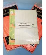 Halloween Pumpkins Ghost Cat Letterhead Paper & 2 Orange  Party Table-Co... - $20.95