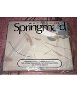 Springmaid ~ NOS Vtg Floral Twin Flat Sheet Off White USA 1970's 1980's - $14.30