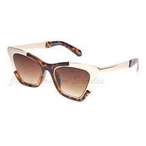 Retro Designer Sunglasses Trapezoid Cateye Runway Fashion Shades image 13