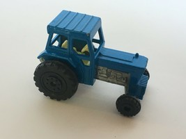 Lesney Ford Tractor No. 46 Matchbox Superfast Farm Equipment Toy Blue 1978 1970s - $11.99