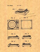 Record Player Patent Print - $7.95+