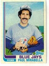 1982 Topps Paul Mirabella Toronto Blue Jays #499 Baseball Card - $1.97