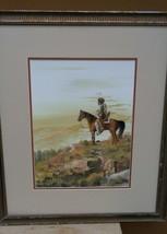 Vintage Bobby Hill White Buffalo Kiowa Native American Indian Art Painti... - $131.10