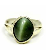 Natural Cat's Eye Silver Ring Cut Style 6 Carat Jewelry SZ K,L,M,N,O,P,Q... - $37.29