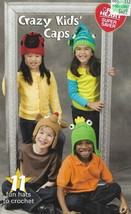 Crochet Pattern Booklet-Crazy Kids Caps-11 Fun Hats to Crochet - $5.86