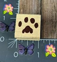 Stampcraft Cat Paw Print Rubber Stamp Wood Dog Animal Pet #H105 - $2.97