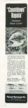 1967 Normark Lauri Rapala Print Ad Countdown Rapala Hottest New Fishing ... - $7.59