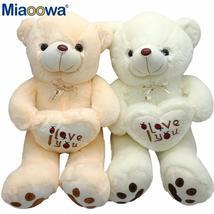 1pc 50cm&70cm Stuffed Plush Toy Holding LOVE Heart Big Plush Teddy Bear ... - $45.99+