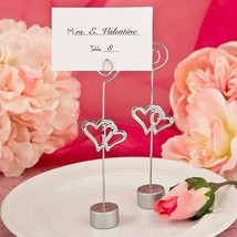 40 Love Themed Double Heart Design Place Card Holders Party Favors Wedding - $48.11