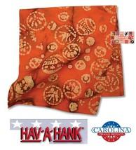 BATIK ORANGE TIE DYE BANDANA SOFT Kerala COTTON Head Neck Wrap Band Scar... - $9.43