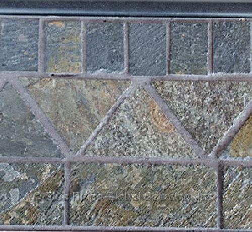 Uniflame Lp Fire Pit 30,000 btu Propane Patio Deck Fireplace with Slate Tile