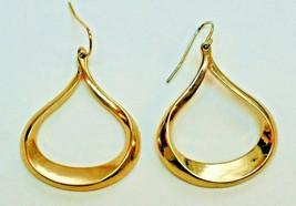 Gold Tone Women's Tear Drop Earrings Fashion Costume Jewelry Pierced Ear... - $18.69