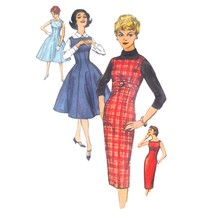 50s Vintage Simplicity Sewing Pattern 2651 Junior Jumper Fit Flared Dres... - $12.95