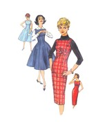 50s Vintage Simplicity Sewing Pattern 2651 Junior Jumper Fit Flared Dres... - $12.95