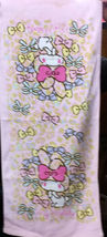 My Melody Cartoon Pink Color Bow Pattern 34 X 76 Cm Cute Cotton Face Hand Towel - $10.99