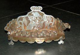 Judaica Oil Menorah Hanukkah Vintage Israel Silver Copper 7 Seven Species 1960's image 1