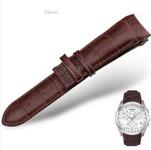 23mm BROWN Curved Leather Watch Band Tissot T035 NO BUCKLE T035439,T035617 - $39.49