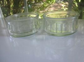 Ramekin Pair Clear Glass Custard Bowl Cup Held Canadian Cheesecake 3.25 ... - $19.99