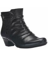 Womens Rockport Cobb Hill Abilene Boots - Black Leather, Size 9 [CBD51BK] - £59.00 GBP