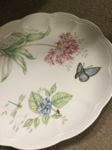 "Lenox Butterfly Meadow Eastern Tail Blue 11"" Plate Flower And Butterfly Design image 3"