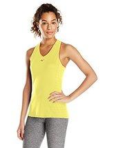 Mizuno Running Women's Akemi Singlet, Lemon Yellow/Haute Red, Large - $26.60