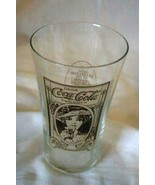 """Coca Cola Turn Of The Century Flair Glasses 5 1/2"""" - $5.39"""