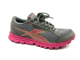 Reebok Women's YourFlex Pink Gray Athletic Shoes Size 9.5 - $16.83