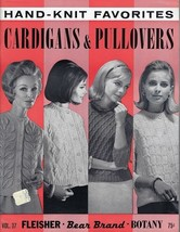 1967 Hand Knit Favorites Cardigans & Pullovers Pattern Book Vol 37  - $5.44