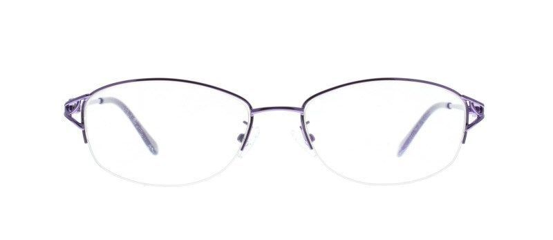 Ebe Bifocal Prescription Glasses Mens Womens Violet Half Rim Shield Light Weight