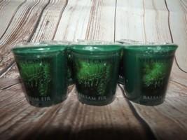 Village Candles 6 - 2 Ounce Votives Balsam Fir Dark Green Colored Sealed - $14.48