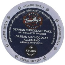 Timothy's German Chocolate Cake Flavored Coffee 1 Box of 24 K-Cups - $18.20