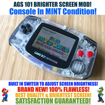 Nintendo Game Boy Advance GBA NES System AGS 101 Brighter Backlit Mod SW... - $137.10